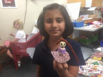 Maliha with her horse rider